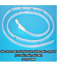Ống Silicone nuôi ăn qua đường mũi - dạ dày (có phễu, nắp, đầu mở) 16Fr L950