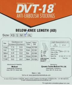 Vớ chống nghẽn mạch máu hiệu DVT-18  loại AD