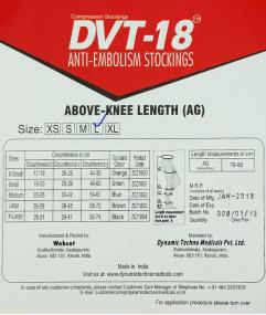 Vớ chống nghẽn mạch máu DVT-18 loại AG