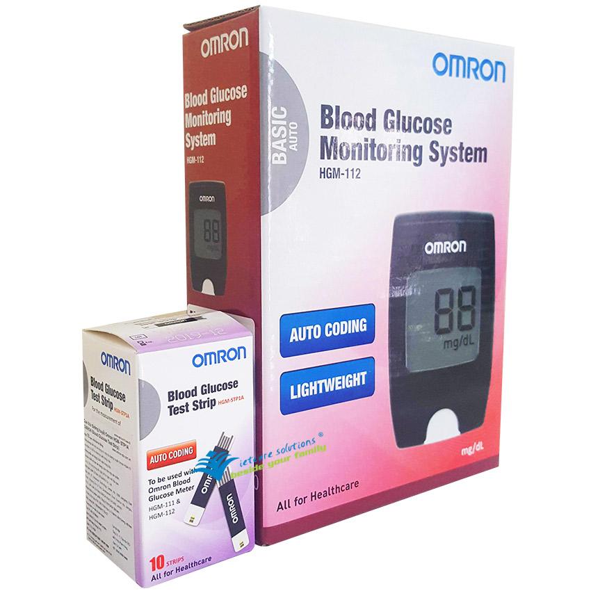 Kết quả hình ảnh cho Máy đo đường huyết Omron HGM-112
